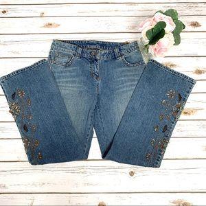 INC Copper & Jewel Embellished GORGEOUS Jeans NWOT